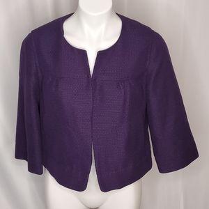 Apt 9 cropped purple blazer jacket